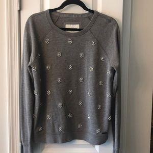 Abercrombie grey embellished sweatshirt. Large